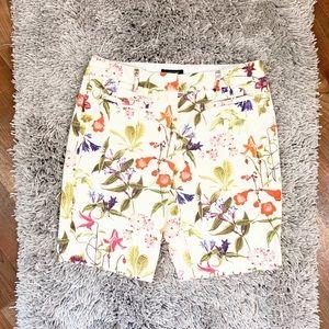 Lands End Floral Print Bermuda Shorts